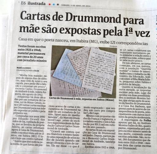 a4a8ff0fdb Notícia: notícias > Folha de S. Paulo publicou matéria sobre cartas que  estavam em Lavras - Jornal de Lavras